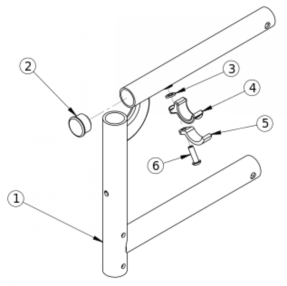 Catalyst 5ti Swing Away Front Frame parts diagram