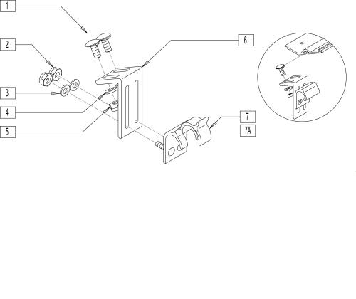 Snap-tite Seat Hardware parts diagram