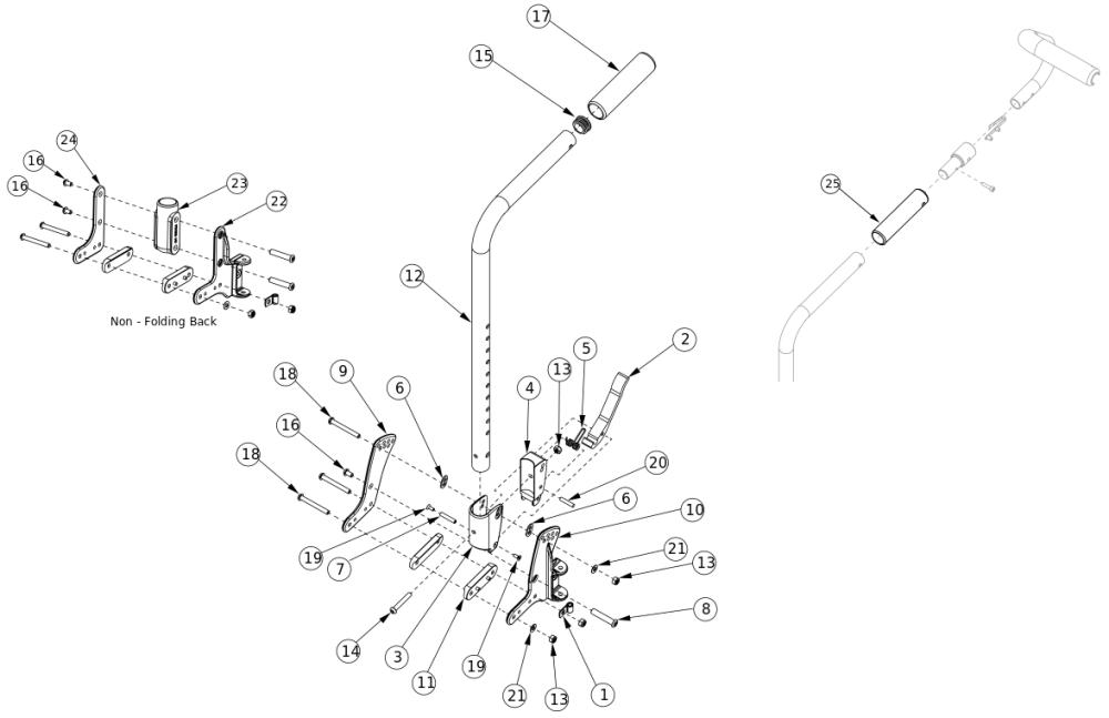 Liberty Ft Stroller Handle Backrest parts diagram