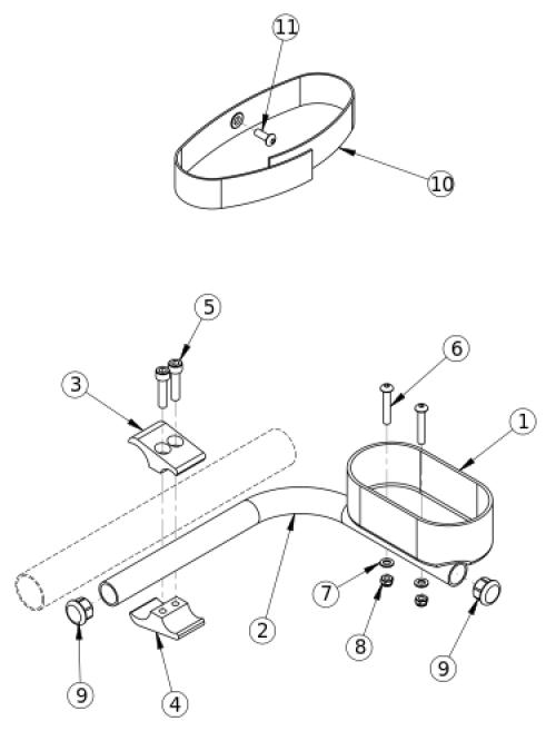 Rigid Cane And Crutch Holder parts diagram