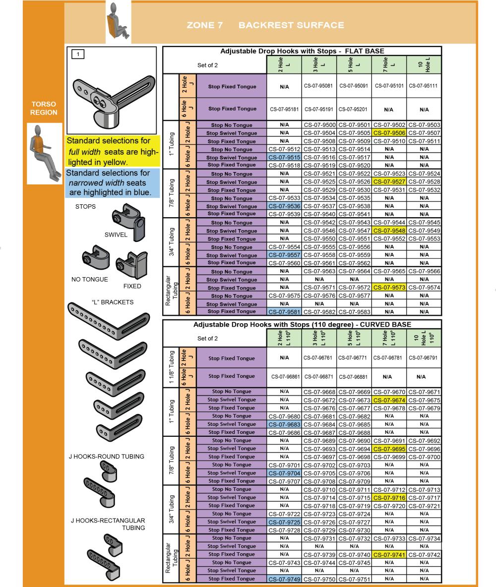 Cs-07-back Step 7 Select Attachment Hdwr Adj Drop Hooks Upper (2 Of 8) parts diagram