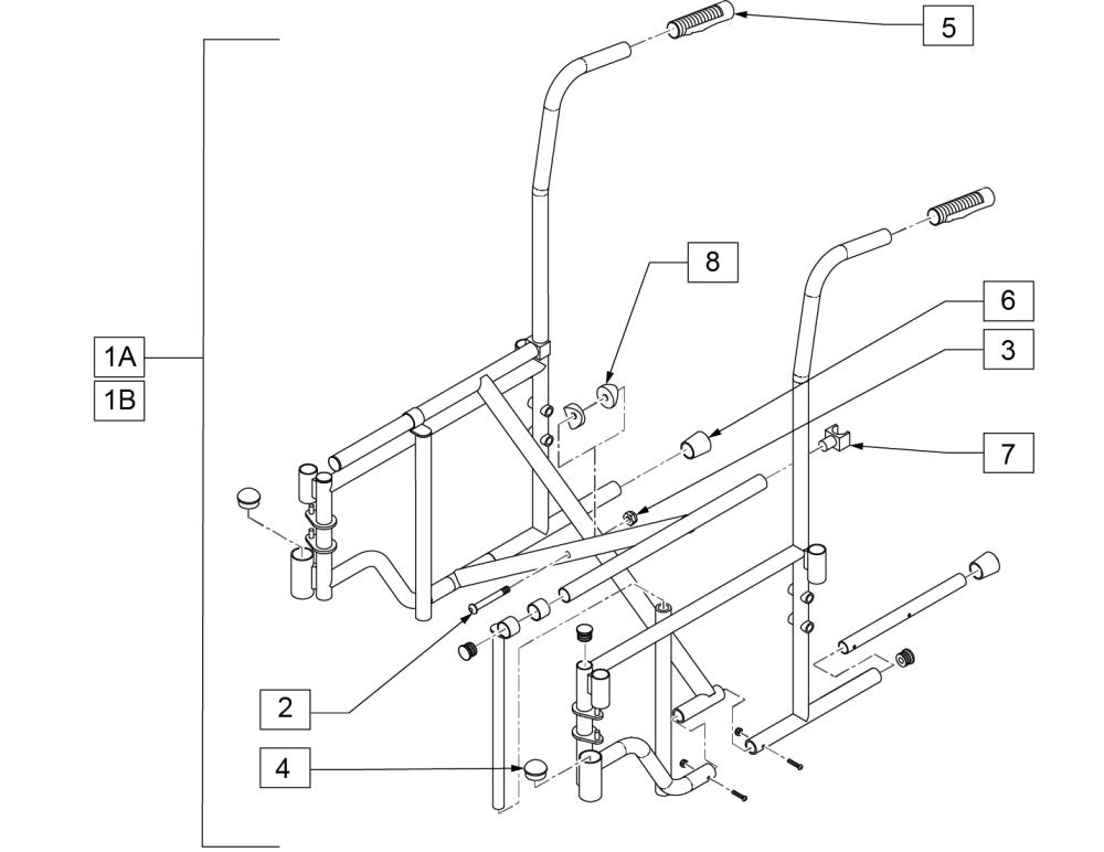 2000 & 3000 Frame (removable Armrest) parts diagram
