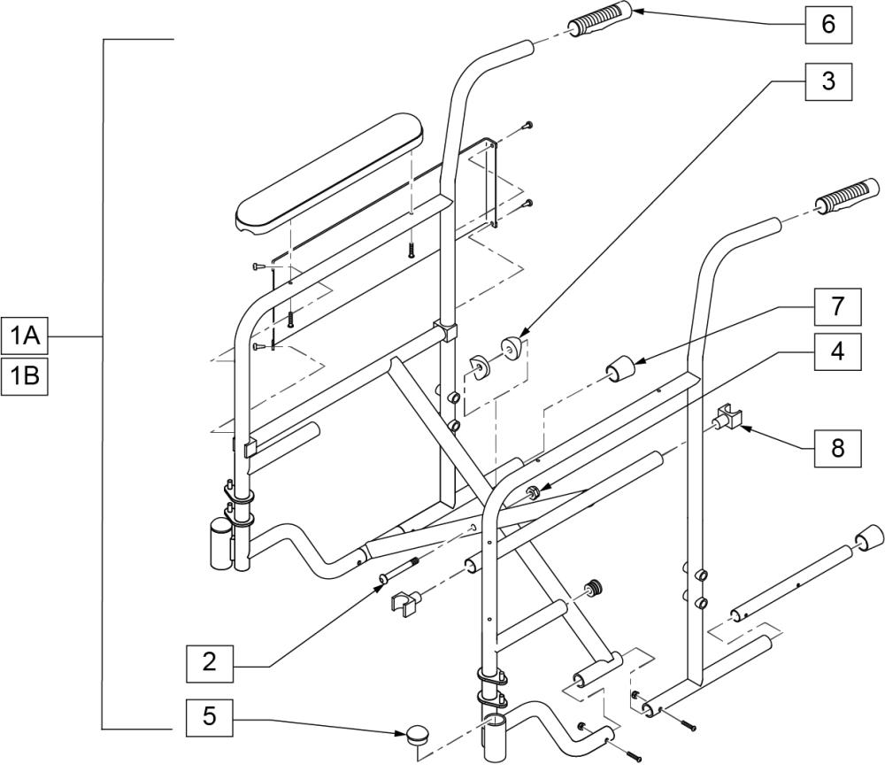 2000 Frame (fixed Armrest) parts diagram