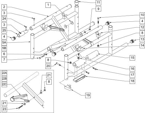 Frame parts diagram