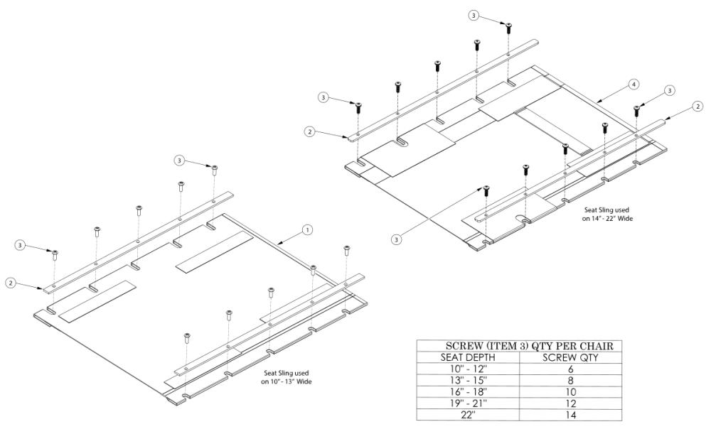 Rigid Seat Upholstery parts diagram