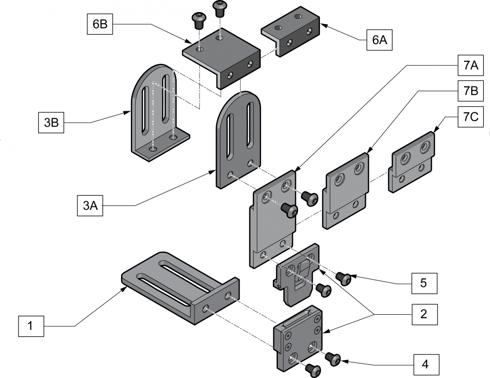 Removable Modular Laterals parts diagram