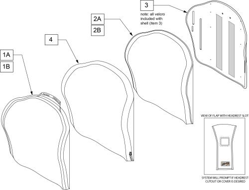 J3 Ut Pl Backrest parts diagram