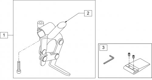 Wheel Lock Fixed Armrest Frame (1000,2000) parts diagram