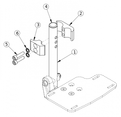 (discontinued) High Mount Clamp parts diagram