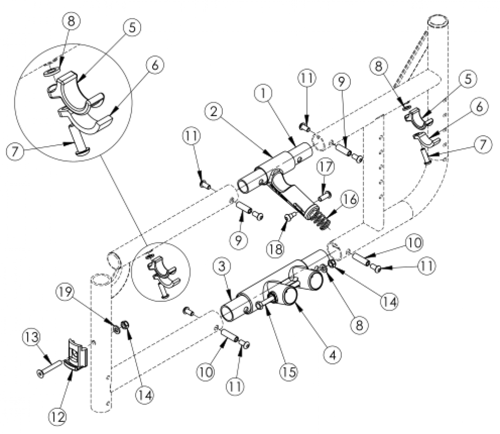 Catalyst Side Frame Assembly parts diagram
