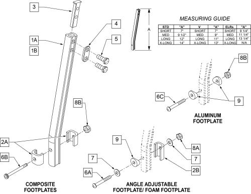Double D Footrest Extension Tube
