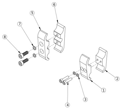 Clik Wheel Lock Clamps parts diagram
