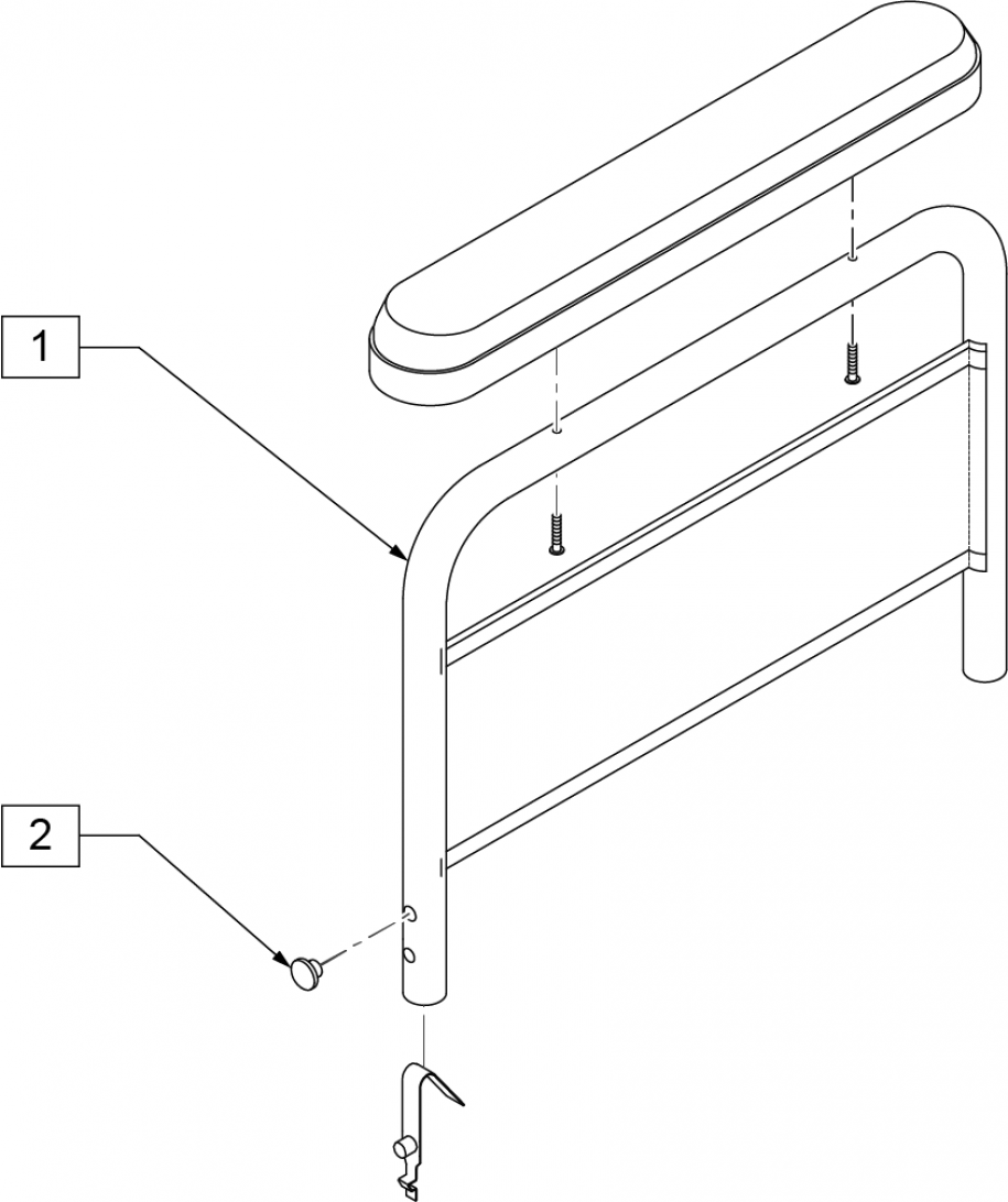 Armrest Full Padded (2000, 2000hd) parts diagram