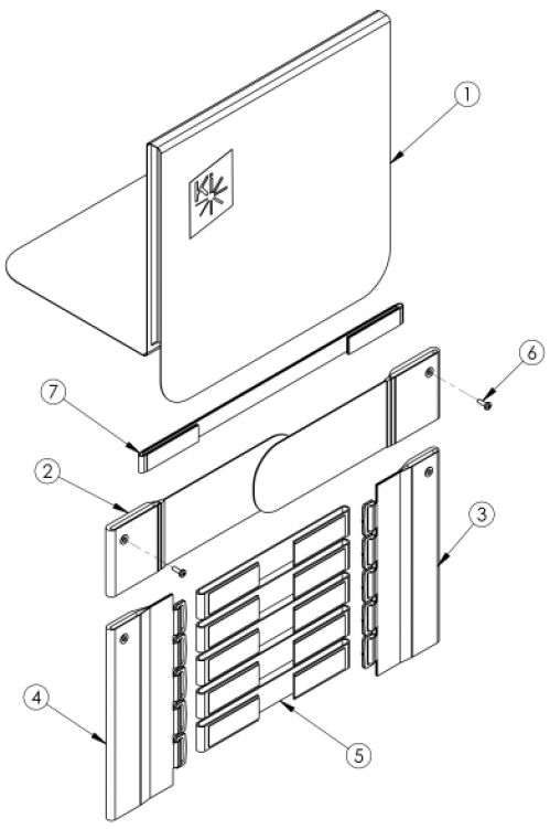 Discontinued 2 Catalyst Tension Adjustable Back Upholstery parts diagram