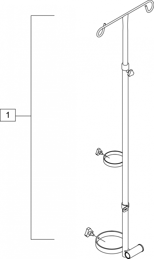Combination O2 Iv Holder parts diagram