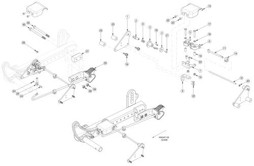 Focus Cr Foot Tilt Mechanism parts diagram