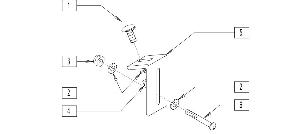 Tri-cell Seat Hardware parts diagram