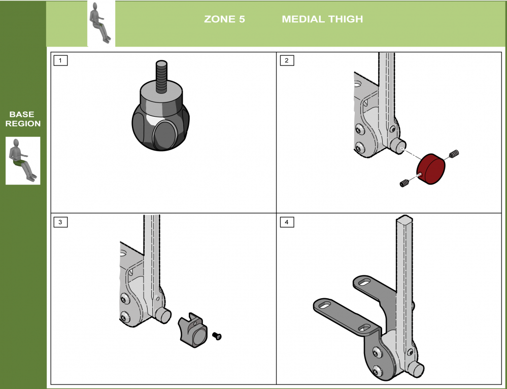 Cs-05 Medial Thigh Support Bracket Modifications parts diagram