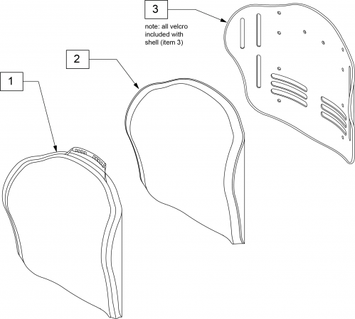 J3 Hv Pl Backrest parts diagram