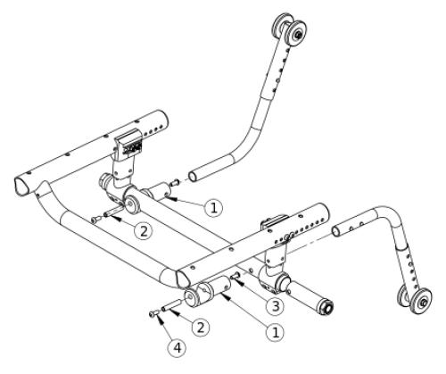 Tsunami Anti-tip Receiver parts diagram