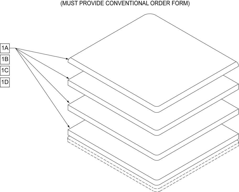Seat Foam parts diagram