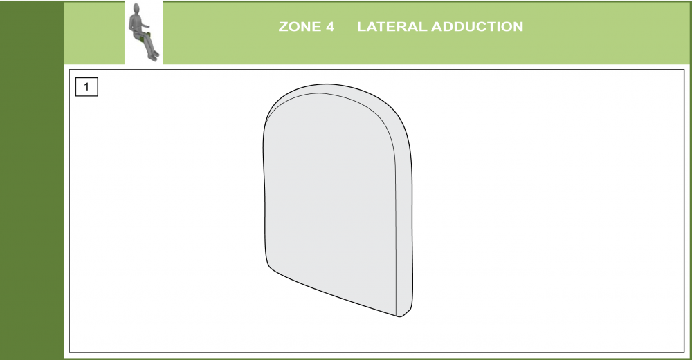 Cs-04 Lateral Adductor Support Pad Modifications parts diagram