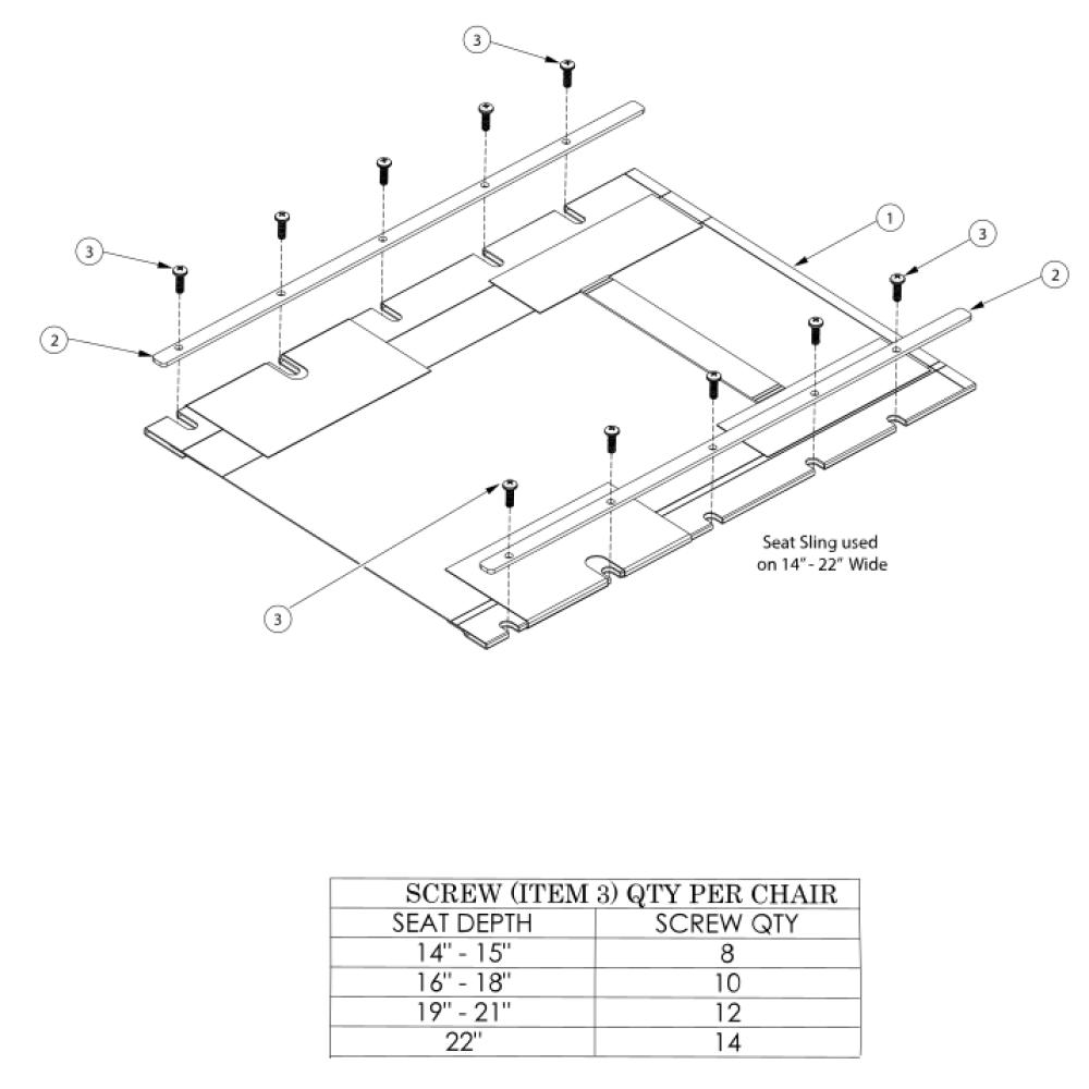 Tsunami Al Seat Upholstery - Growth parts diagram