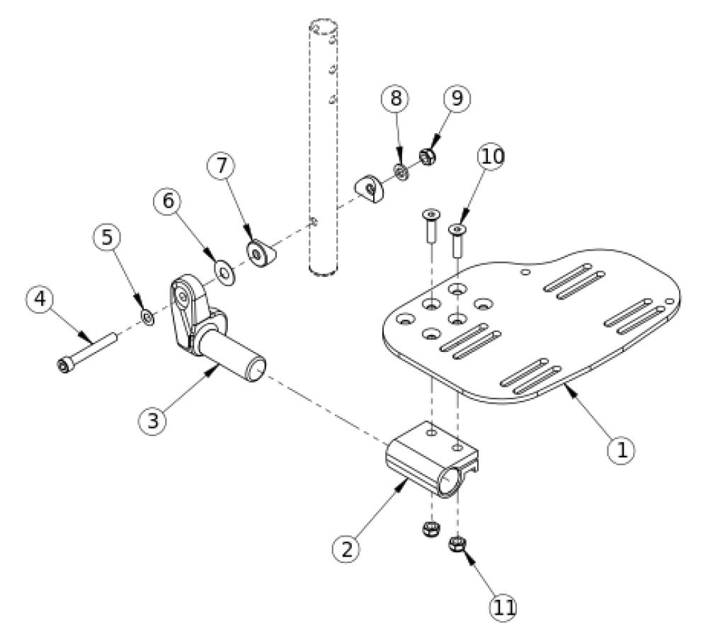 Angle Adjustable Footplate - Elevating Leg Rest parts diagram