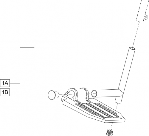 Standard Footplate And Extension (fixed) parts diagram