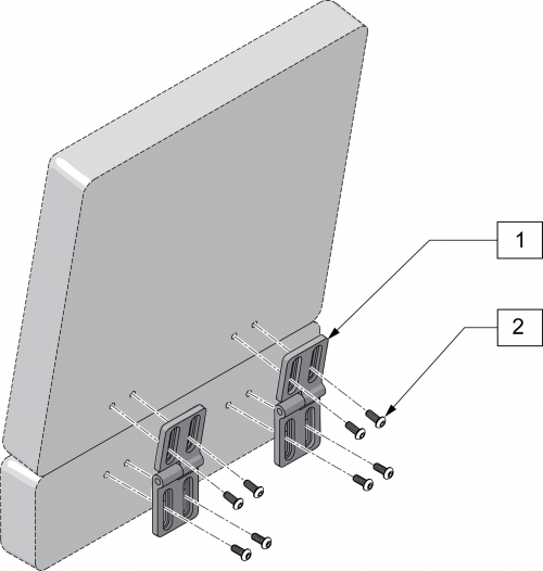 Bi Angular Back Brackets parts diagram