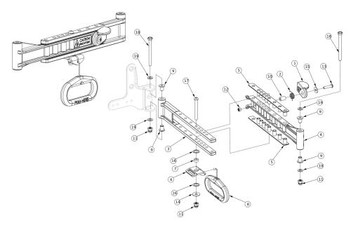 Liberty Ft Back Frame Cross Brace parts diagram