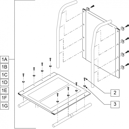 Seat And Back Upholstery 1000,2000,3000 parts diagram