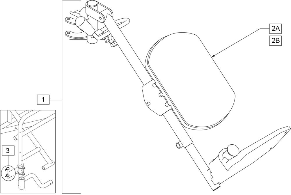 Low Profile Composite Elevating Leg Rest (2000, 4000) parts diagram
