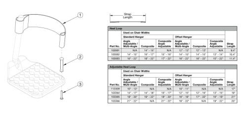 Focus / Flip Heel Loops parts diagram