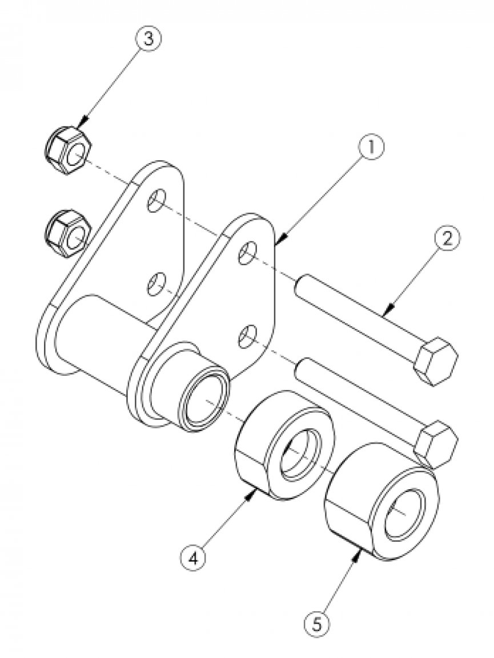 Catalyst 4 Axle Bracket parts diagram