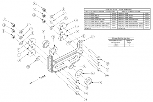 Catalyst 5 Universal Axle Plate parts diagram