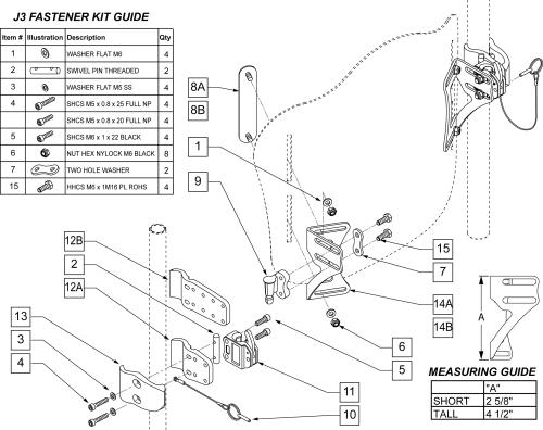 J3 Back Hardware parts diagram