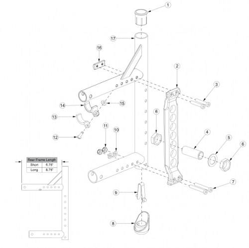 Canada / Aadl Adjustable Axle Plate Rear Frame parts diagram
