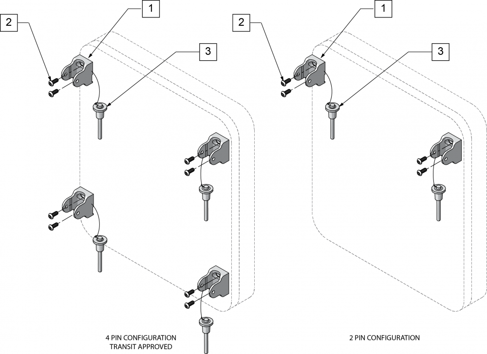 Quickie Ts Snap Back Mounting Hardware parts diagram
