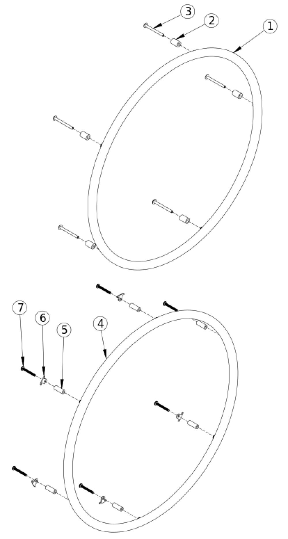 Liberty Ft Plastic Coated Handrim parts diagram