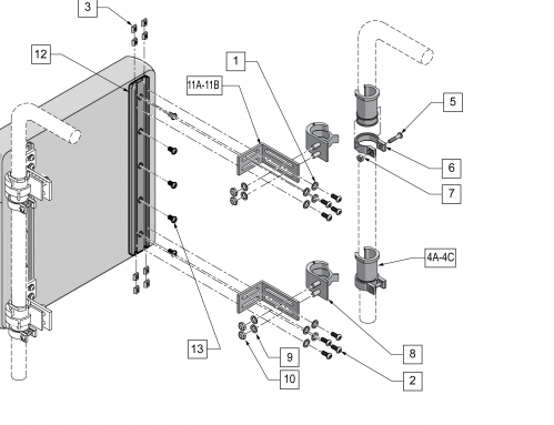Snaptite Back Hardware parts diagram