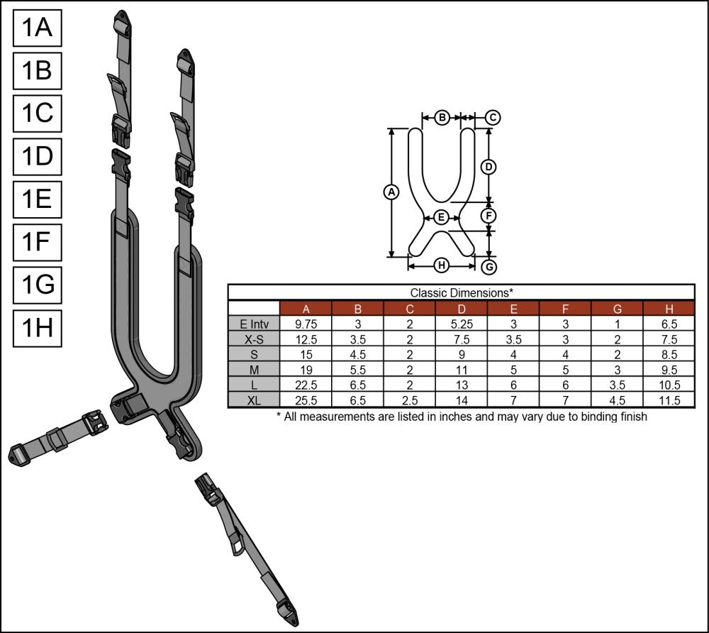 Classic Harness parts diagram
