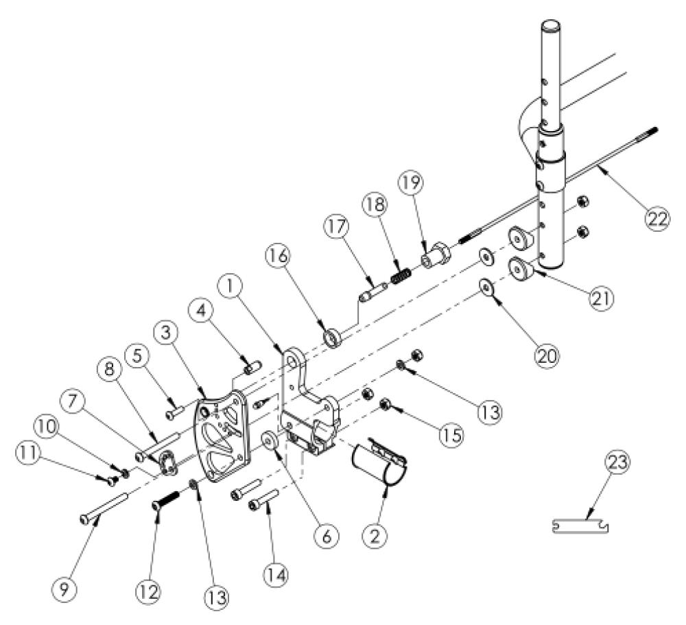 Clik Standard Backrest Mount parts diagram