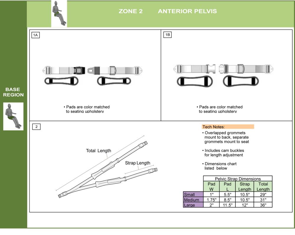 Additional Anterior Pelvic Support parts diagram