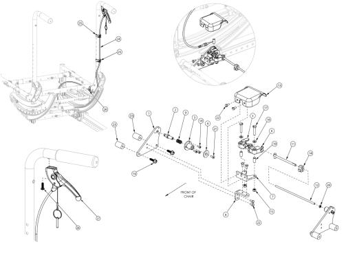 Focus Cr Hand Tilt Mechanism Stroller Handle Back parts diagram
