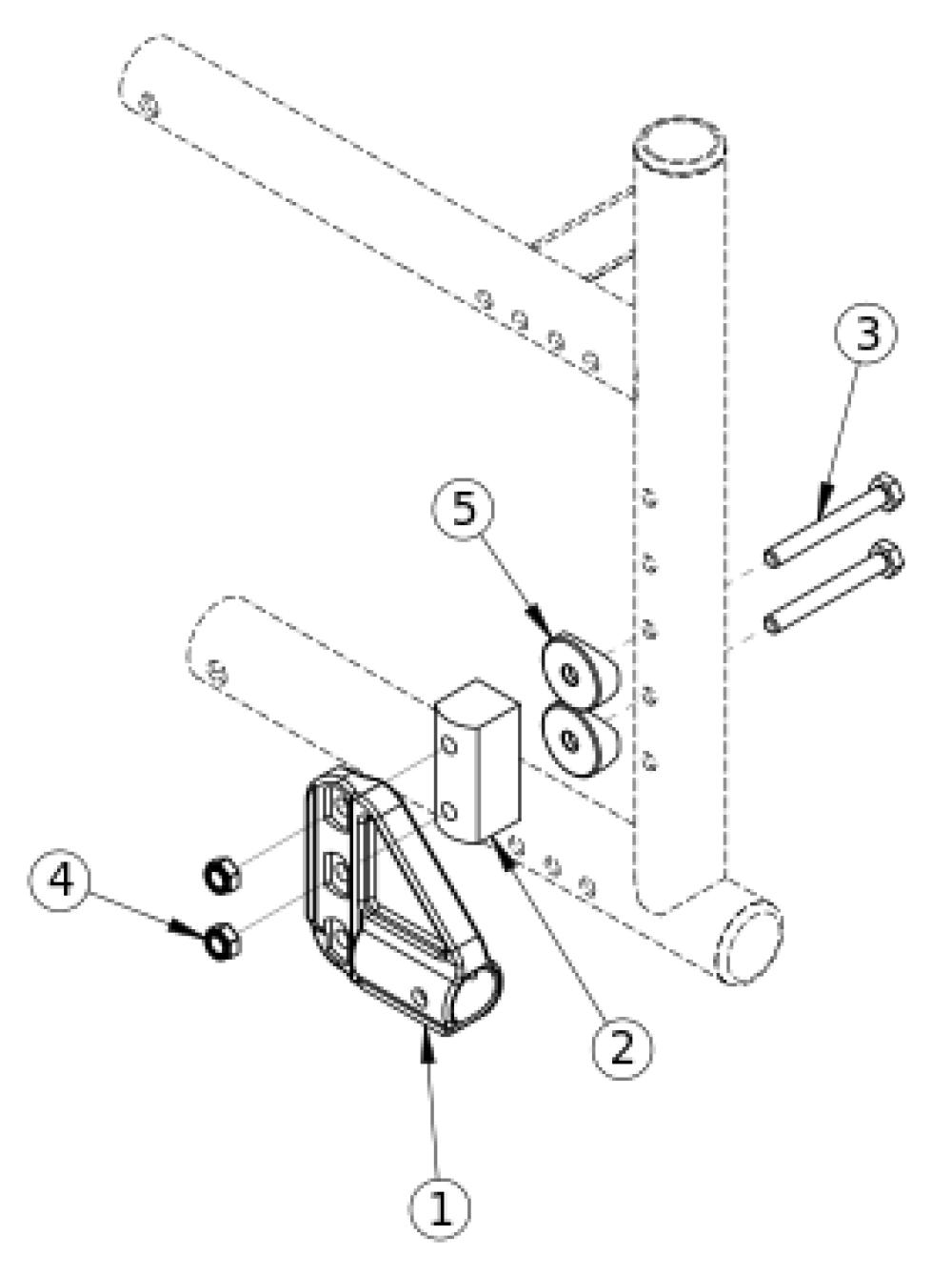 Catalyst 4 Anti-tip Receiver parts diagram