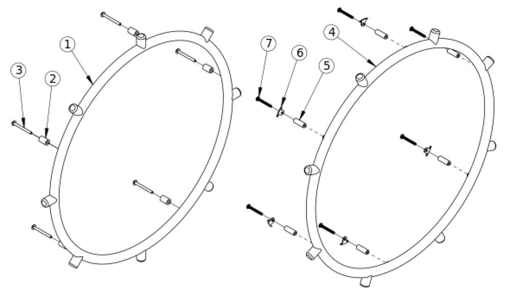 Rogue Xp Projection Handrim parts diagram