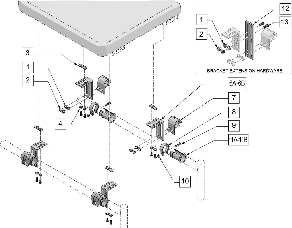 Snaptite Seat Mounting Hardware parts diagram