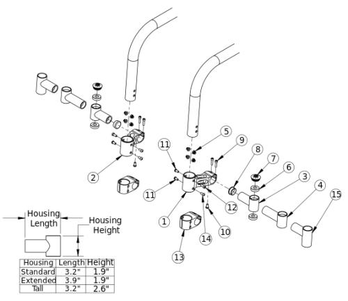 Tsunami Little Wave Caster Mount parts diagram