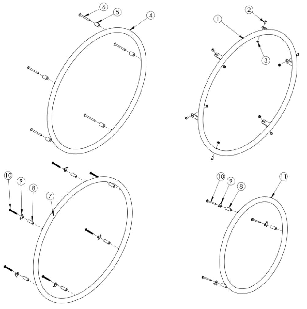 Plastic Coated Handrim parts diagram